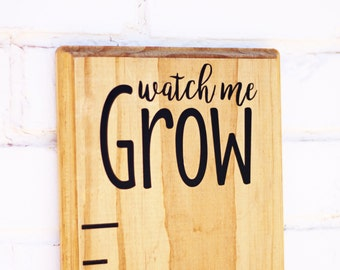 "Growth Chart Ruler Add-On--""Watch me Grow"" Vinyl Decal --Top Header"