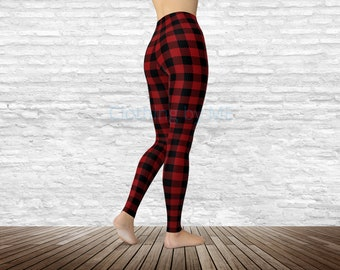 Tartan Trousers red Baby Boys Girls Black Leggings Gothic Punk Party holiday