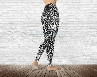 536d0fd2a3f7ba Snow Leopard Print Leggings - Adult, Capri & Kids, Yoga Leggings, Printed  Tights, Yoga Pants, Printed Leggings, Leopard Legging, Girl, TC