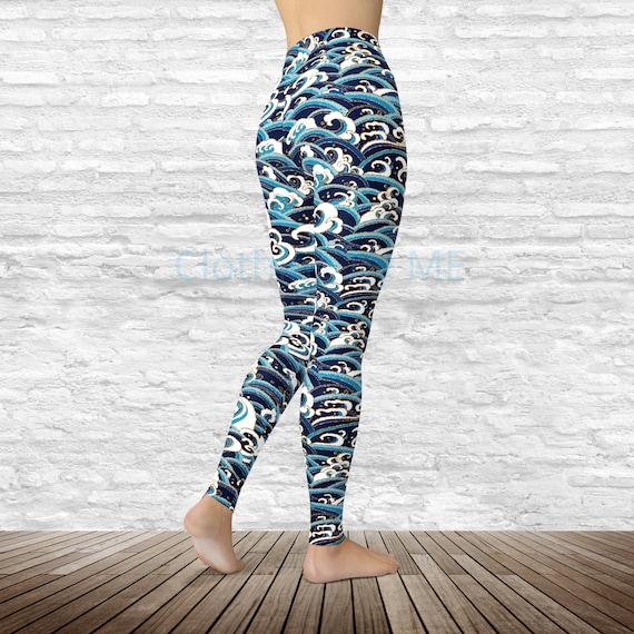 Beach Waves Yoga Leggings