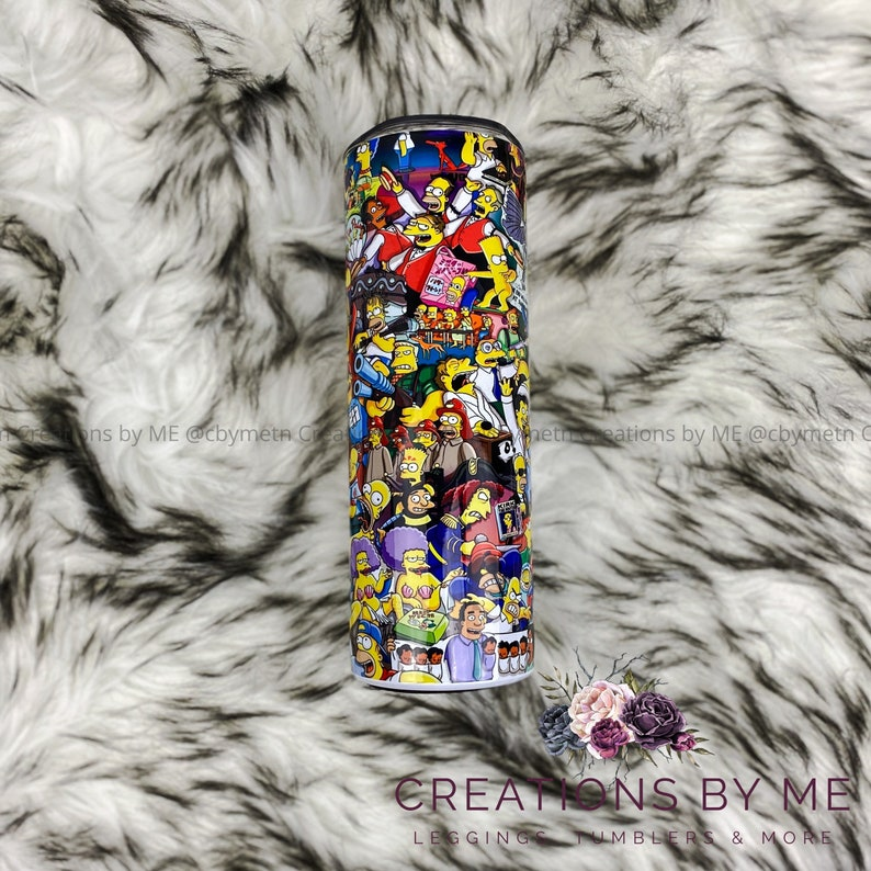 The Simpsons Tumbler Simpson Cup Customized Custom Birthday image 0