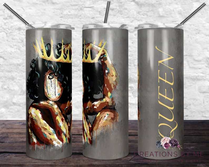 Queen Black History Month Tumbler Crown Cup Customized Custom image 0