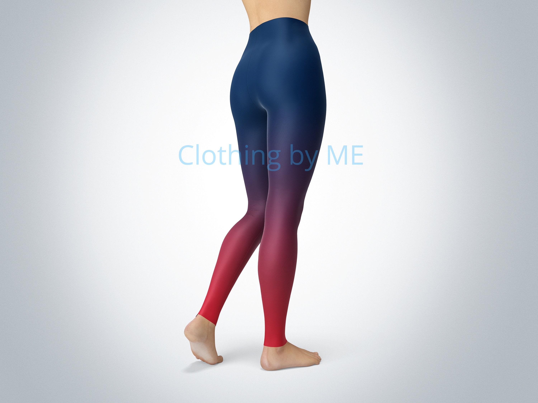 98adb466 New England Patriots Ombre Leggings - Adult & Capri, Yoga Leggings, Printed  Tights, Yoga Pants, Printed Leggings, New England Legging, TC