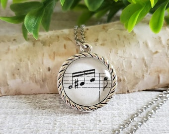 Music Necklace, Beethoven Fur Elise, Musician Gifts, Music Teacher Gift, Music Jewelry, Gifts for Music Lovers, Music Note Necklace