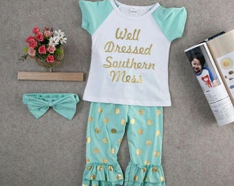 Well dressed southern mess 3 pc clothing set