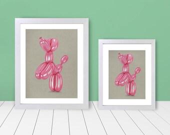 Framed Print - Balloon Animal Pink