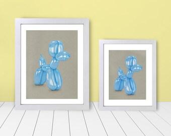 Framed Print - Balloon Animal Blue