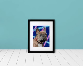 "Custom Framed & Matted Pet Portrait - School Portrait - 5""x7"""