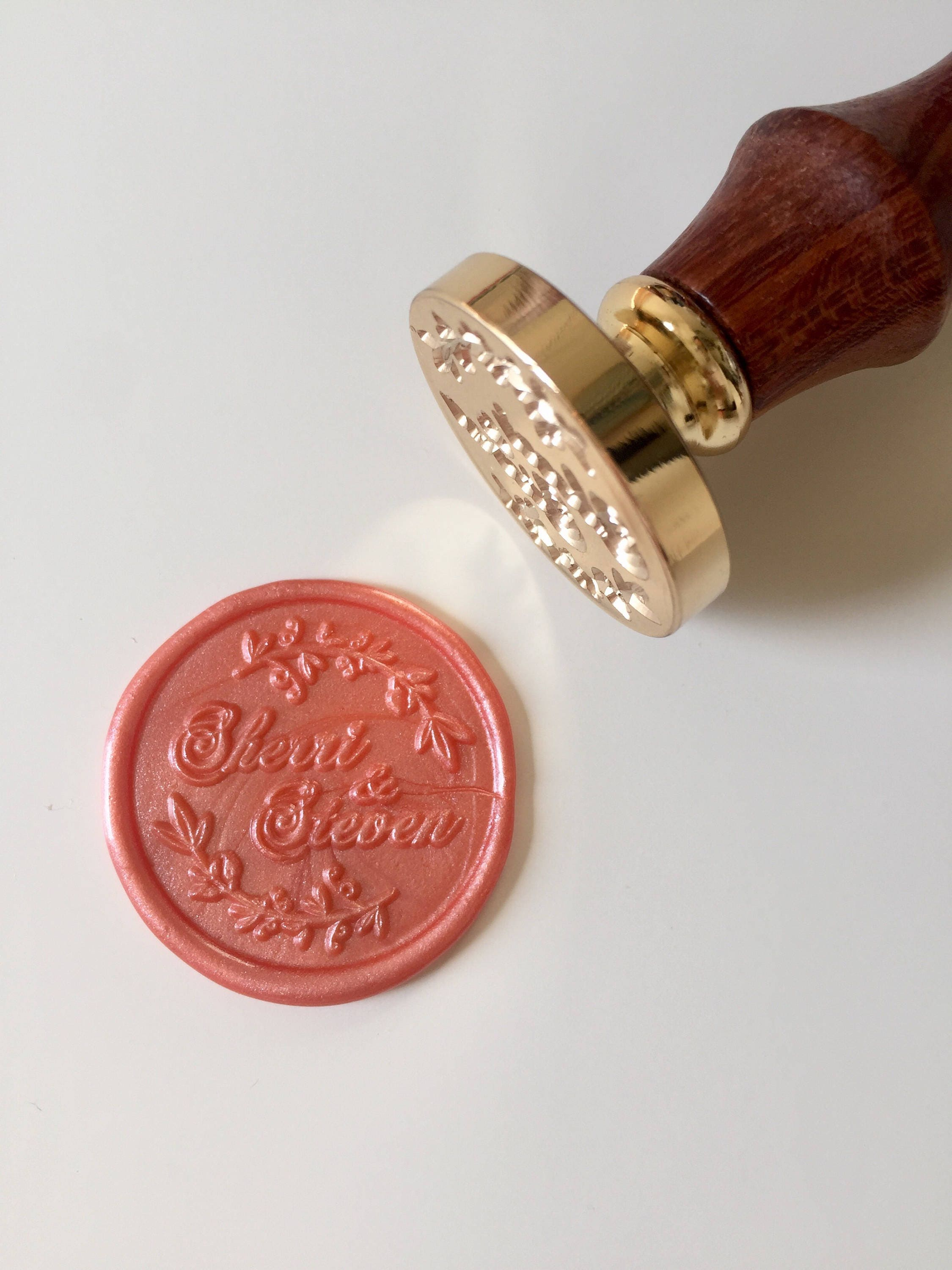 Personalized Wedding Wax Seal Stamp with name | Etsy