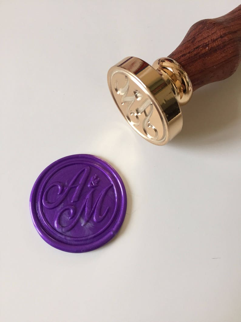 Calligraphy initials Wedding Wax Seal Stamp