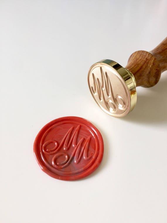 Custom Seal Stamp,Invitation seal stamp L133 Wedding Stamp Tandem Bicycle  Wax Seal  Stamp With initial