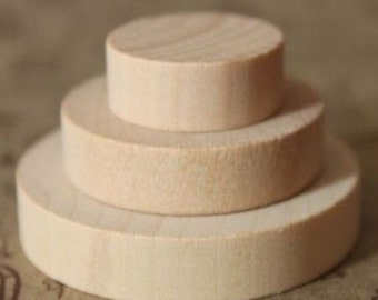 Set of 5 Wooden Block for DIY own Rubber Stamp