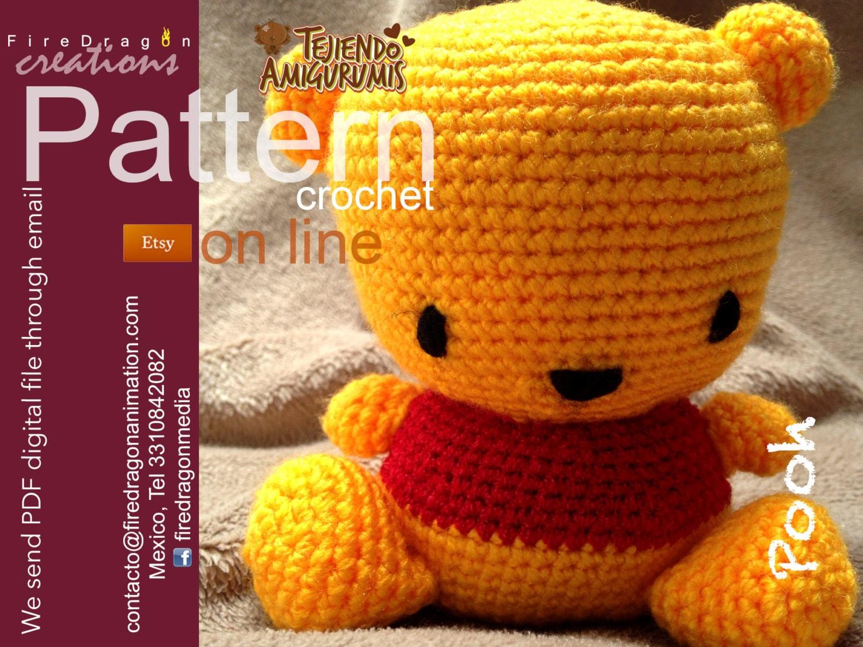 Winnie the pooh Patron Crochet | Etsy