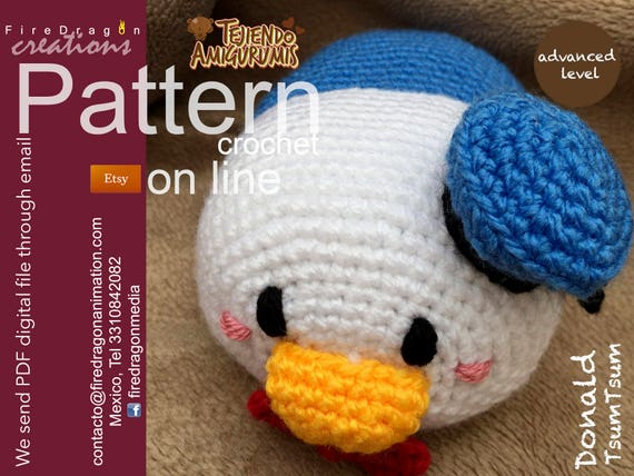 Donald Duck TsumTsum Muster häkeln   Etsy