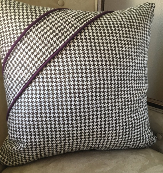 Brown Houndstooth Pillow Cover 40 X 40 Inch Pillow Cover Etsy Gorgeous 20 X 20 Inch Pillow Covers