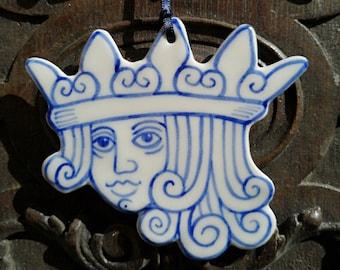 Jack handpainted porcelain decoration