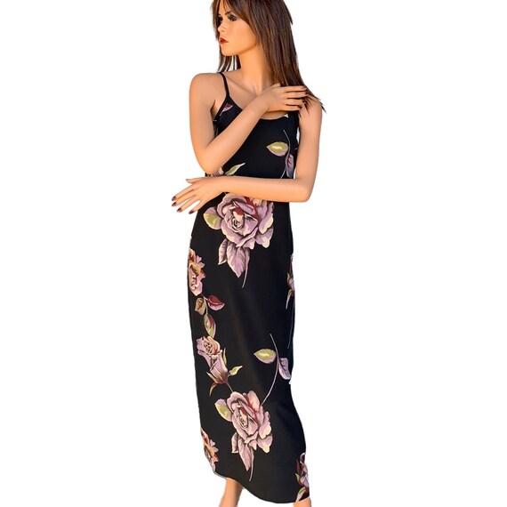 90's Floral Slip Dress Multi Color Slip Dress Flo… - image 4