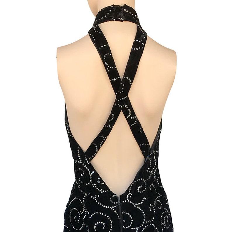 c5dd34f3f68a Saks Fifth Avenue Dress Mock Neck Cross Back Design Turtle   Etsy