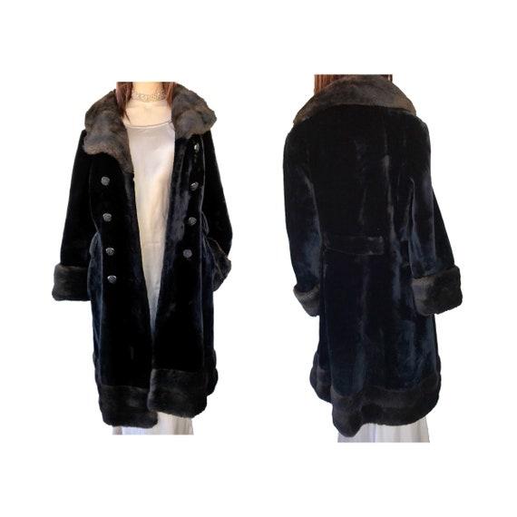 Faux Fur Coat Russian Princess Coat 1970's Vintage