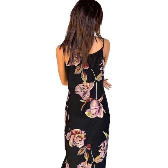 90's Floral Slip Dress Multi Color Slip Dress Flo… - image 5