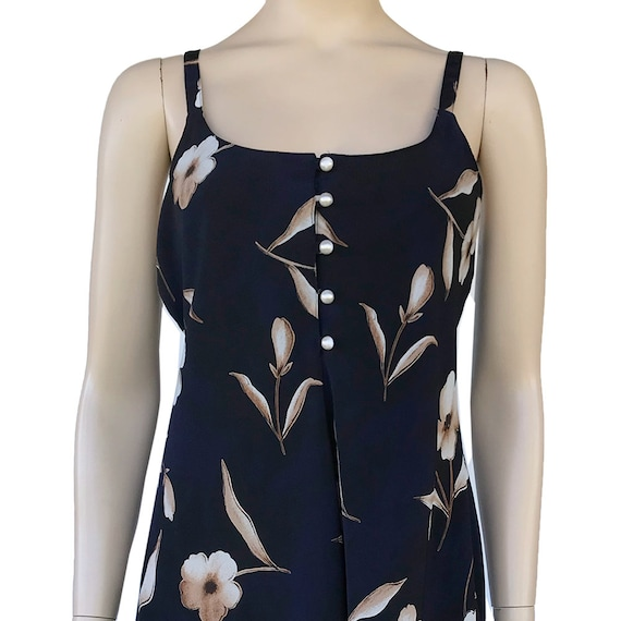 90's Floral Slip Dress Spaghetti Strap Dress With… - image 3
