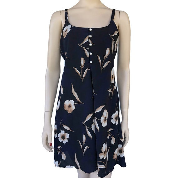 90's Floral Slip Dress Spaghetti Strap Dress With… - image 2