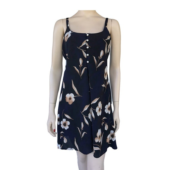 90's Floral Slip Dress Spaghetti Strap Dress With… - image 1