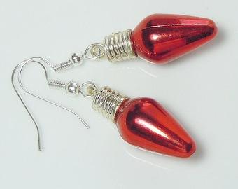 Fun & Festive Christmas Bulb Earrings