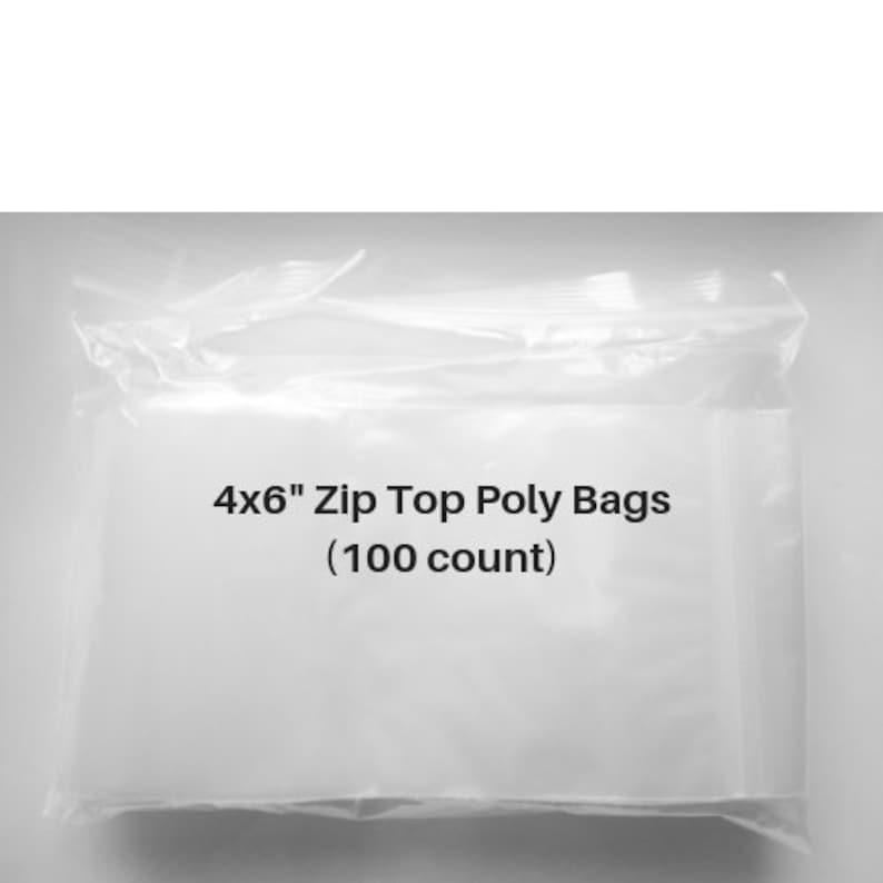 "Pack of 100 Zipper Reclosable Plastic Bags 1/"" x 1/"" 2 Mil"