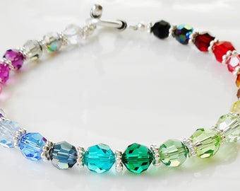 Swarovski Crystal Multi-Color Beaded Bracelet - Gorgeous!