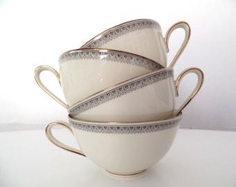 Vintage Bavaria Tirschenreuth porcelain tea set. Germany.
