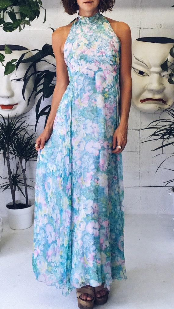 Stunning Pastel 60s Halter Dress