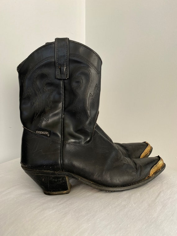Vintage Capezio Black Leather Cowboy Western Boots