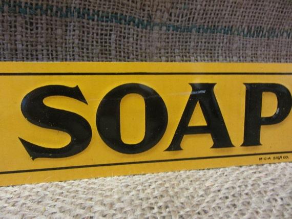 Vintage Metal Embossed Good Will Soap Sign  MCA Sign Co Antique Kitchen Primitive Bath Bathroom Decor Signs Oil 9487