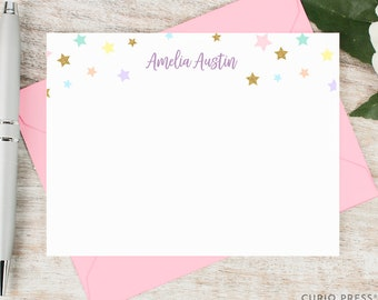 more colors personalized notecard set set of flat personalized stationery cards - Personalized Stationery Cards