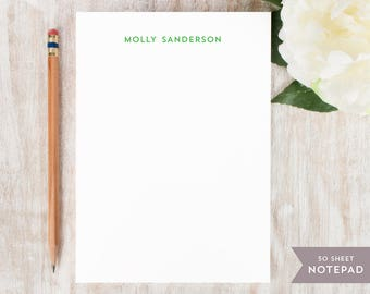 Personalized Notepad - MINIMALIST  - Stationery / Stationary Notepad