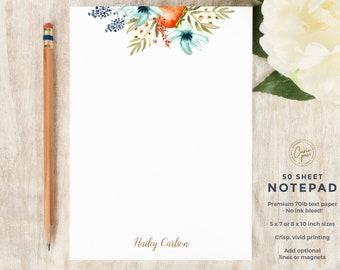 Pretty Feminine Flower Custom Stationery WISP Personalized Stationary Set