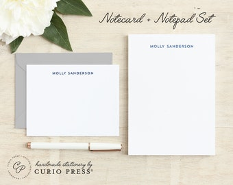 minimalist personalized flat simple stationery stationary note