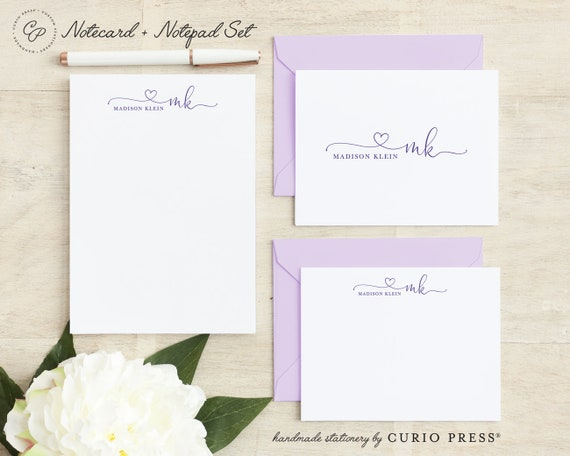 Personalized Casual Stationery//Stationary 5x7 or 8x10 Note Pad OFFSET NOTEPAD