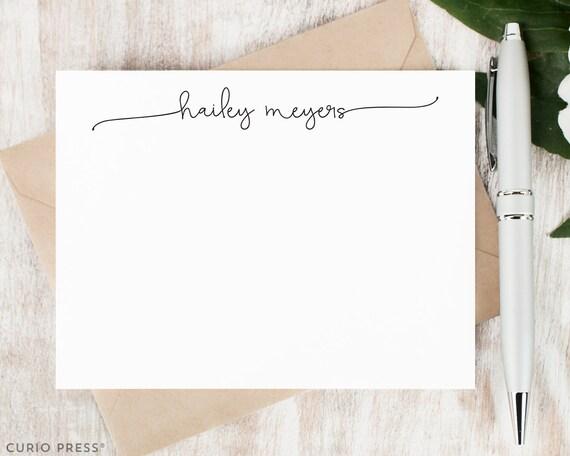 personalized notecard set flat personalized stationery etsy