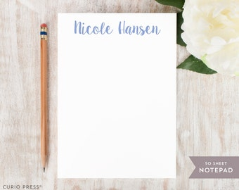 Personalized Notepad - CUTE NAME  - Stationery / Stationary Notepad - cute script note personal office stationary for women girls for her