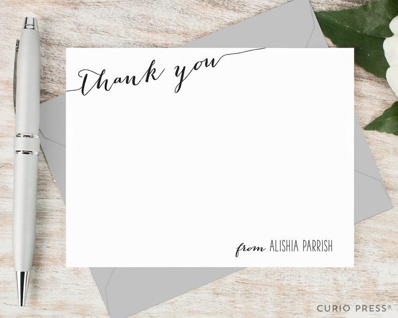 Personalized Thank You Card Set / Flat Personalized Stationary image 0