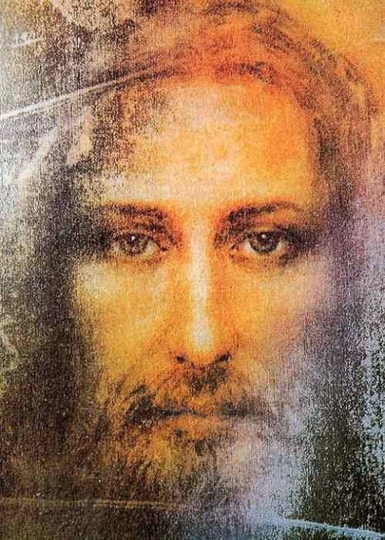 Real Face Of Jesus Christ Shroud Of Turin Photo Picture | Etsy