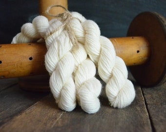 Bare DK Wool Yarn for Natural Dyeing Packs of 3 Skeins