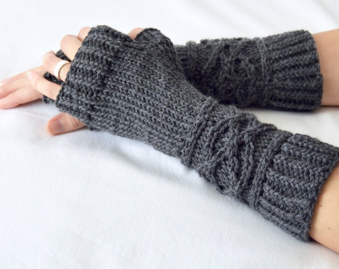Viking Cable Knit Merino Wool Arm Warmers
