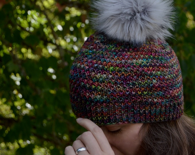 Kaleidoscope Hat Knitting PDF Pattern