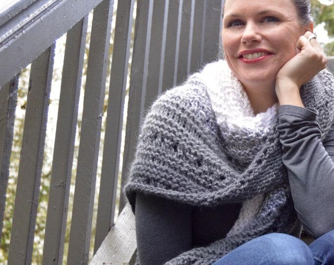 Gigi's Scarf, Knit Baby Alpaca Triangle Scarf