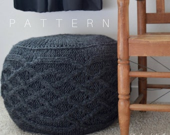 Oh Pouf! Cable Knit Pouf Pattern