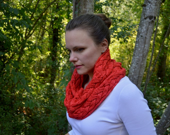 Waterfire Cowl Knitting PDF Pattern