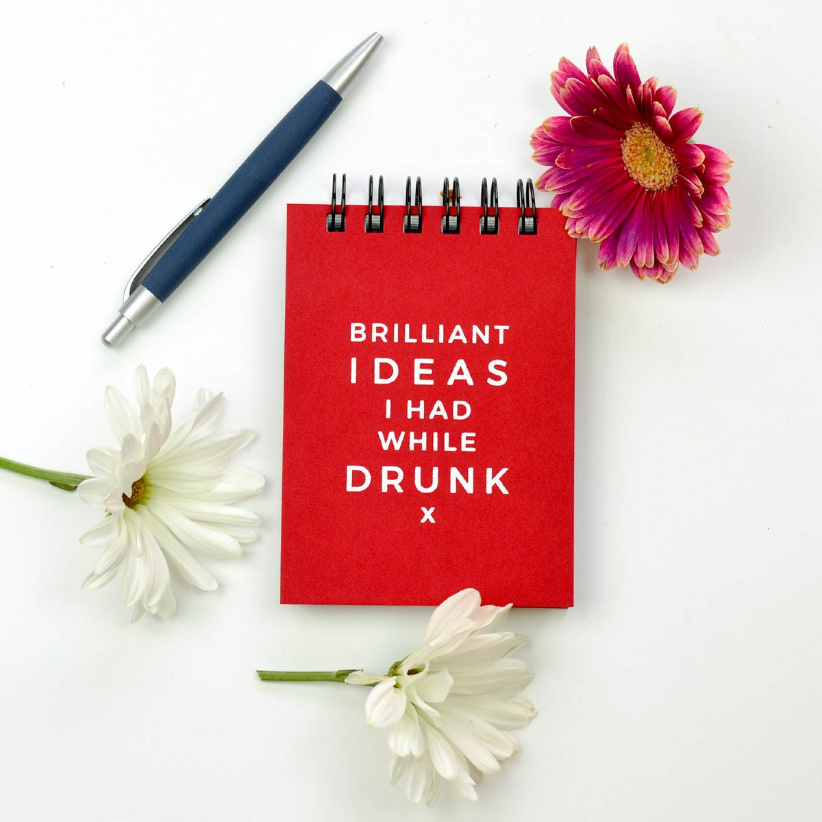 Hard Cover Journal. Brilliant Ideas I had While Drunk. | Etsy
